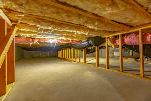Finished Basement or crawl space of a Hillsboro home