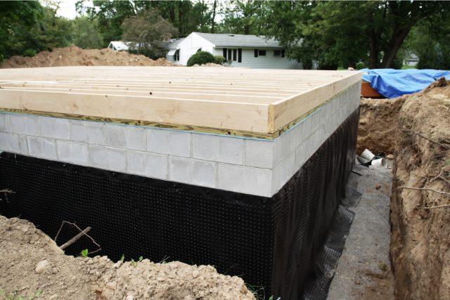 New Basement Foundation Waterproofing